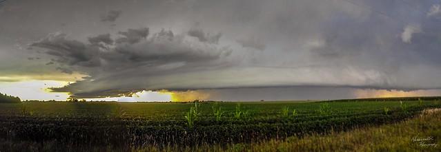 080711 - Nebraska Supercell / Arcus / Shelf Cloud! (Pano) (Remastered)
