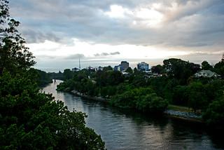Waikato River at Hamilton, New Zealand, 28 Feb. 2007 | by PhillipC