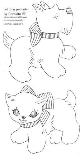 unknown puppy and cat pattern | by floresita's transfers