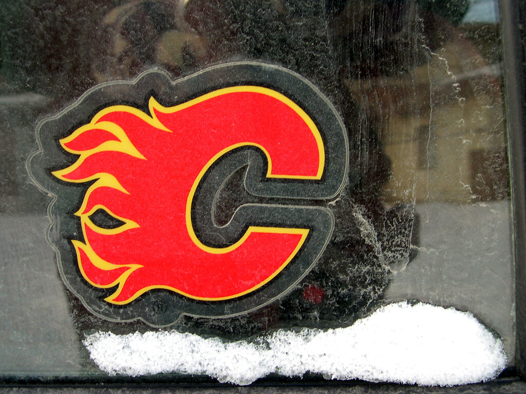 Calgary Flames Decal Supporting The Home Team The Girl In The Picture Flickr