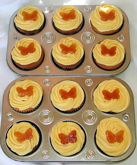 candied orange butterfly cupcakes