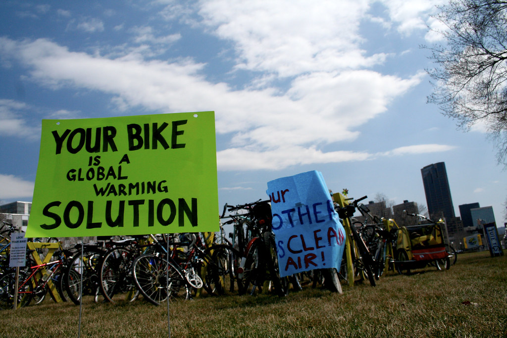 Your Bike is a Global Warming Solution by Tony Webster