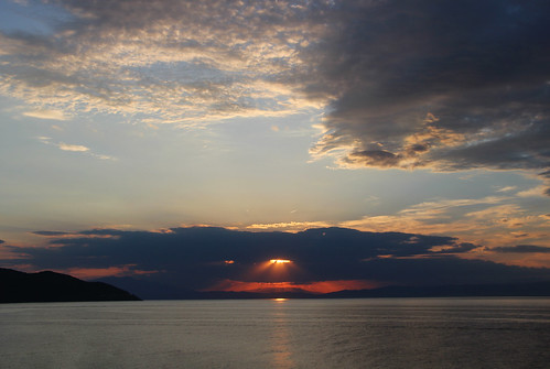 sunset sky greek greece thassos dusk
