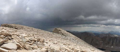 1666 The clouds keep getting darker but we're still in the sun as we descend from Mount Whitney on the JMT   by _JFR_