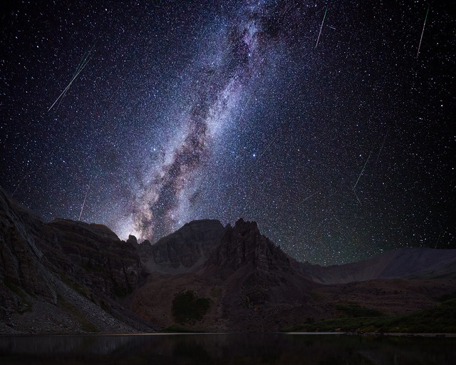 Perseid Meteor Shower at Cathedral Lake