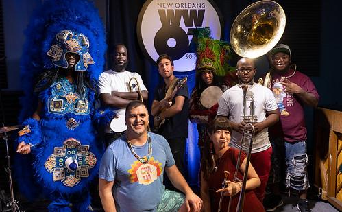 Cha Wa at WWOZ on August 6, 2018. Photo by Charlie Steiner.
