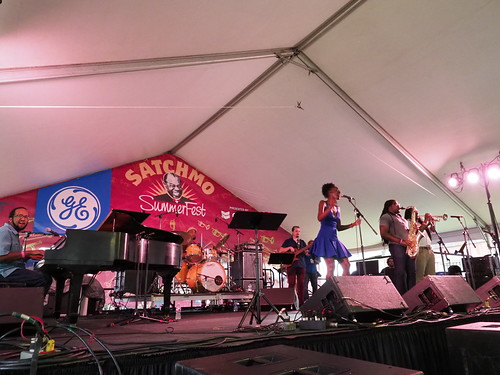 The Nayo Jones Experience at Satchmo SummerFest - Aug. 3, 2018. Photo by Michele Goldfarb.