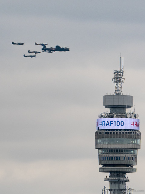 RAF 100th Anniversary Flypast in London, Battle of Britain Memorial Flight