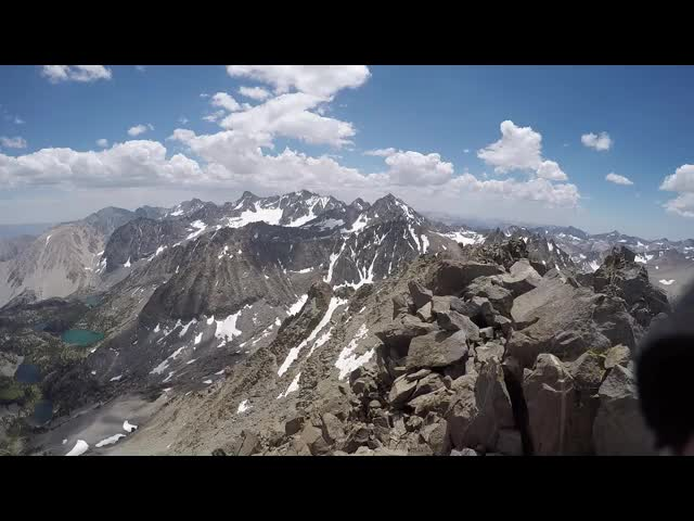 1551 GoPro panorama video from the summit of Cloudripper