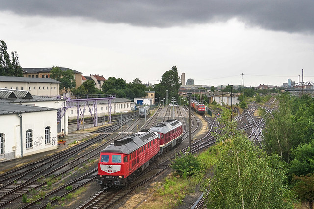 232 673 + 132 158 Leipziger Eisenbahnverkehrsgesellschaft | Bw Leipzig Süd | Juni 2018