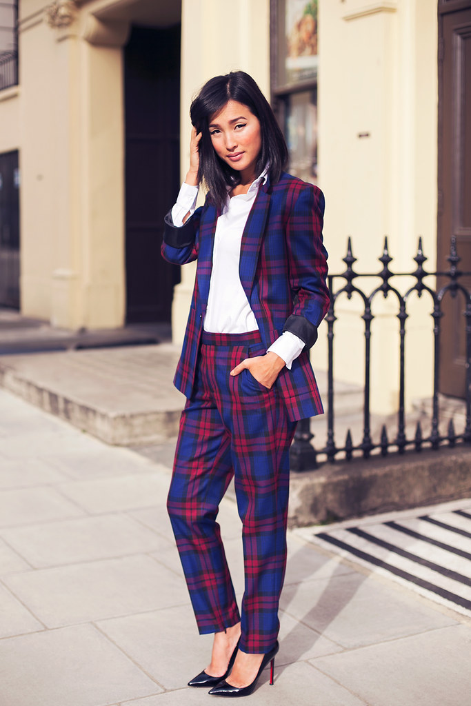 Plaid Blazer + Trouser Co-Ords | Cute Co-Ords Outfit Ideas For Spring And Summer | womens co ords