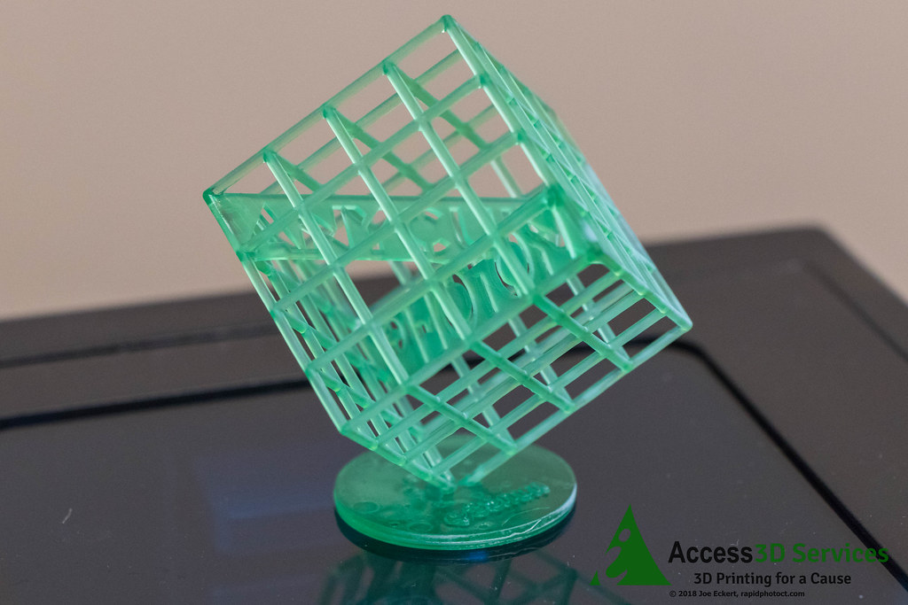 Access3Dservices Anycubic Photon First Print   Test print on