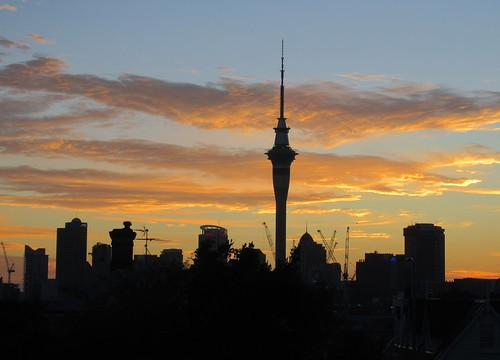auckland nz newzealand ponsonby sunrise morninglight cbd aucklandcbd silhouette flickrtravelaward