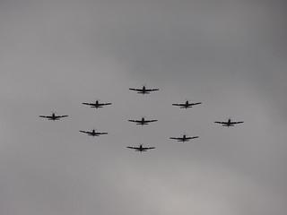 RAF Centenary Flypast   by Mary Loosemore