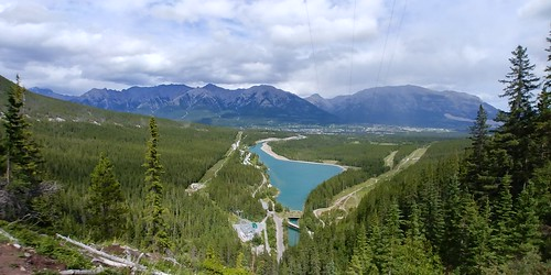Canmore from Grassi Lakes Trail