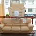 3+1 cream leatherette suite E250 the set