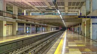 Lisbon, Portugal: Marquês de Pombal (Rotunda) metro station (Yellow [Linha Amarela] Line)
