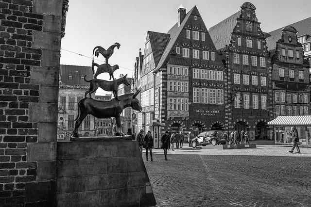 Deutschland (Germany), Bremen, Bremer Stadtmusikanten (Bremen Town Musicians)