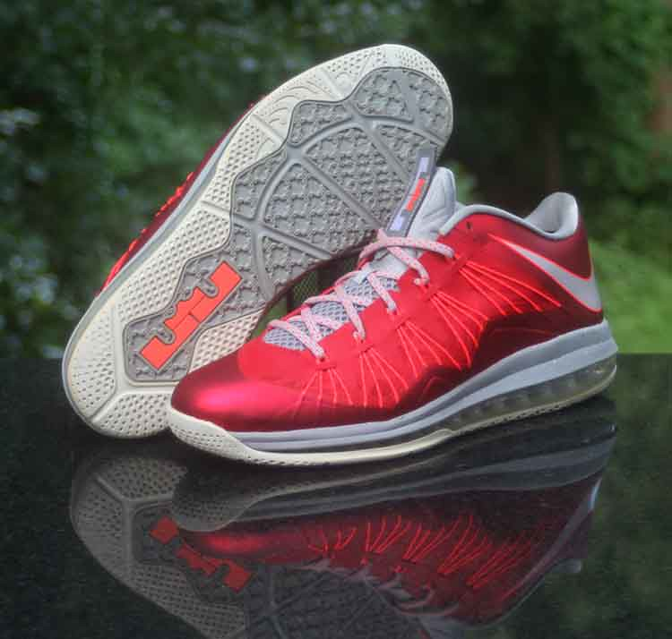 low cost a989a f2c06 ... Nike Air Max LeBron 10 University Red Platinum Grey 579765-600 Men s  Size 12