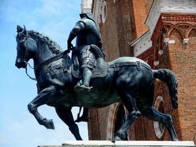 Equestrian monument to Bartolomeo Colleoni (1481-1488) by Andrea Verrocchio (Florence 1435-Venice 1488) in Venice