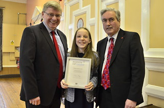 Presenting Points of Light award to Grace Warnock with Martin Whitfield MP | by Iain Gray MSP