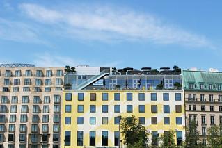 immeubles jaunes et verts Berlin | by blondgarden