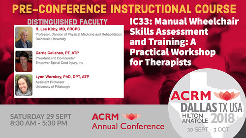 ACRM Pre-Conference Instructional Course IC33 #ACRM2018 | by ACRM-Rehabilitation