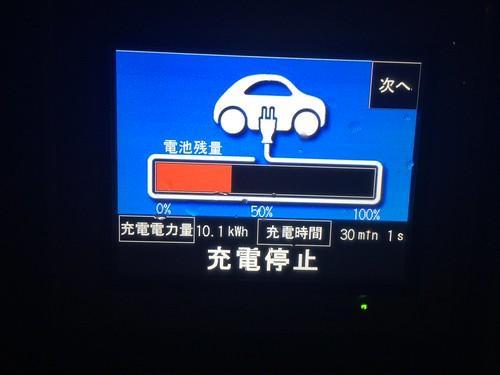 30分急速充電 この日5回目 充電量10.1kWh   by NISSANEV