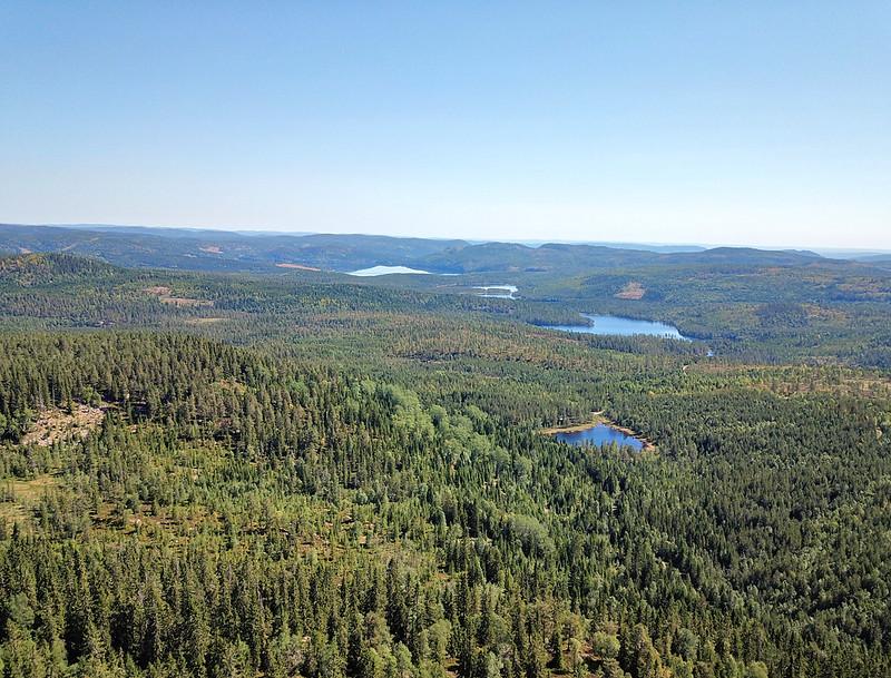 14-Utsikt mot Glitre fra Snaukollen (drone)