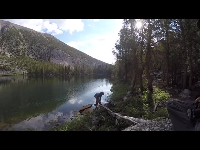 1815 GoPro panorama video of Black Lake in the North Fork Big Pine Creek basin