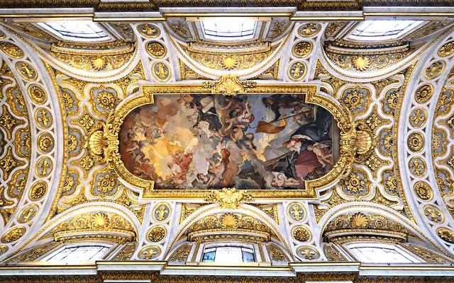 Roma - Church of San Luigi dei Francesi - ceiling - 1754-1756 by Charles-Joseph Natoire