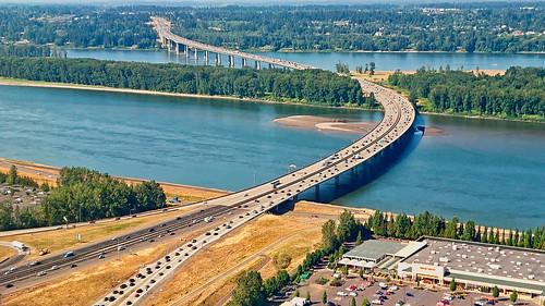 portland pdx brdge columbia river bridge highway freeway