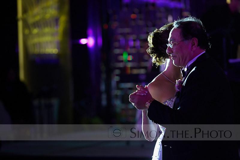 感動位 3/7 父親跟女兒起舞,也是晚宴嘅其中一個高潮