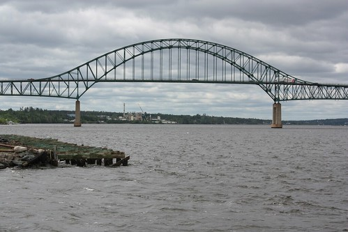 miramichi newbrunswick canada bridge water river miramichiriver