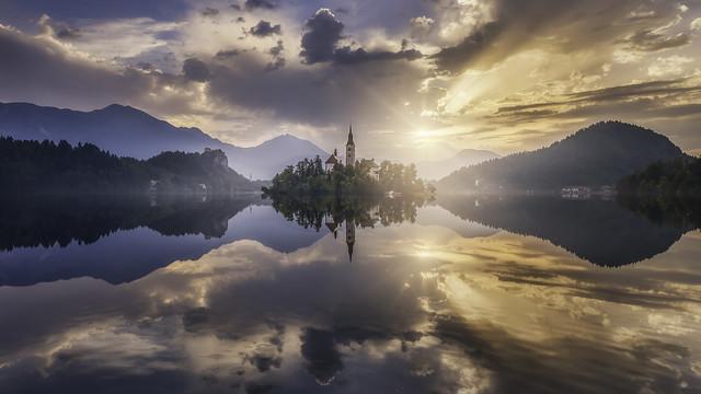 Sunrise in Bled