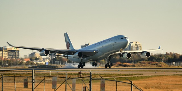 Air Canada Airbus A340-313, C-FYKZ - Toronto Pearson..