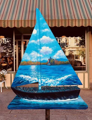 saugertieslighthouse sailinaroundsaugerties kristybishop bishop saugerties newyork ny unitedstates usa america art sculpture boat sailboat sailing lighthouse landscape
