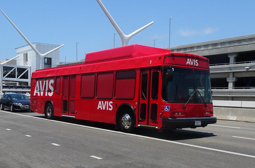 AVIS Car Rental shuttle bus at LAX Airport (2) | rwcar4 | Flickr