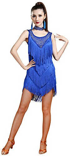 193a9048aa ... BABEYOND 1920s Flapper Dress Long Fringe Gatsby Dress Roaring 20s  Sequins Beaded Dress Vintage Art Deco