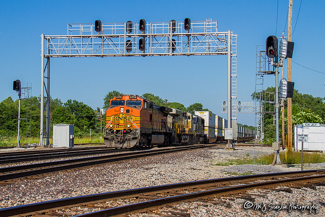 BNSF 4175 | GE  C44-9W | BNSF Thayer South Subdivision