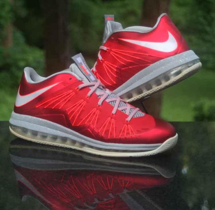 low cost ed3cb 5605d ... Nike Air Max LeBron 10 University Red Platinum Grey 579765-600 Men s  Size 12