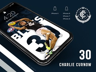 #30 Charlie Curnow (Carlton Blues) iPhone Wallpapers | by Rob Masefield (masey.co)
