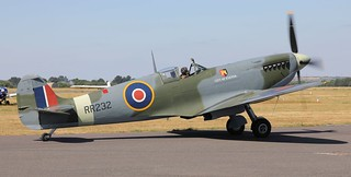Supermarine Spitfire HF Mk.IX RR232 (City of Exeter) G-BRSF Lee on Solent Airfield 2018 | by SupaSmokey