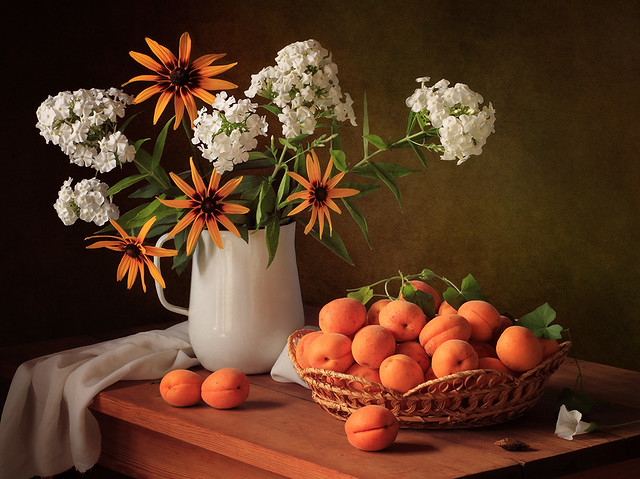 Summer Still Life with Apricots