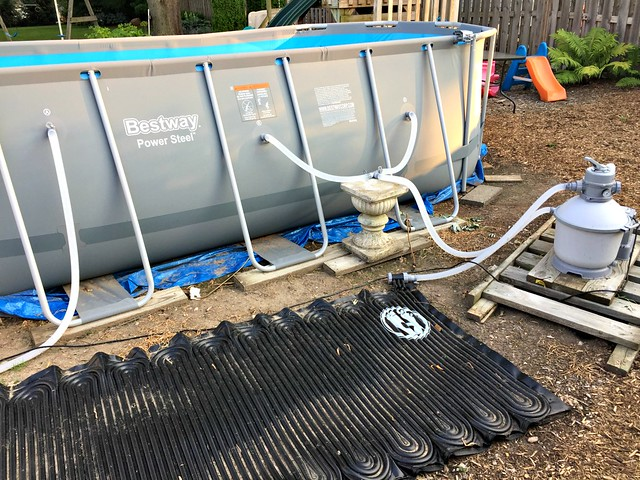 pump, filter, and heater for Bestway pool from Costco