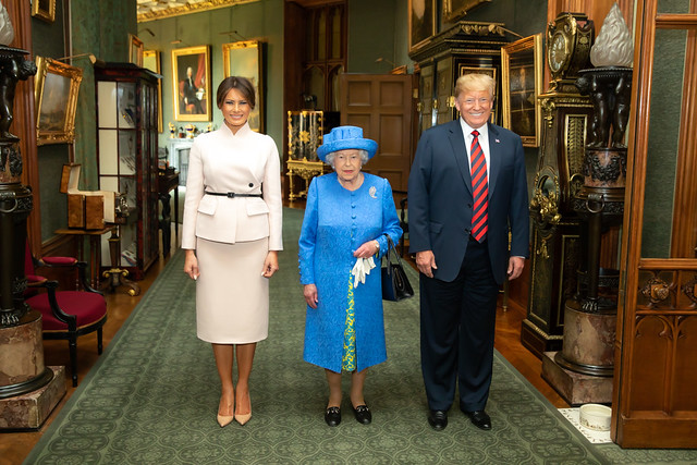 President Donald J. Trump and First Lady Melania Trump with Her Majesty Queen Elizabeth II | July 13, 2018 (Official White House Photo by Shealah Craighead)