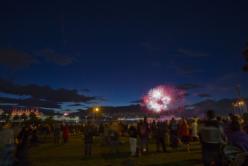 Canada Day Fireworks 2018 @ CRAB Park