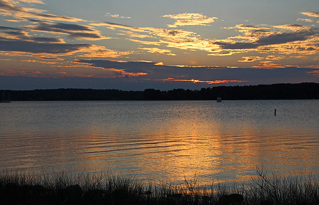 st mary's river sunset
