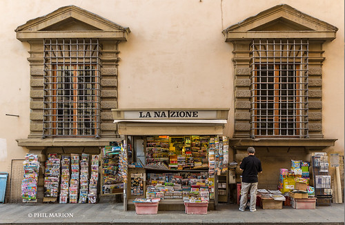 News stand - Florence | by Phil Marion (173 million views - THANKS)