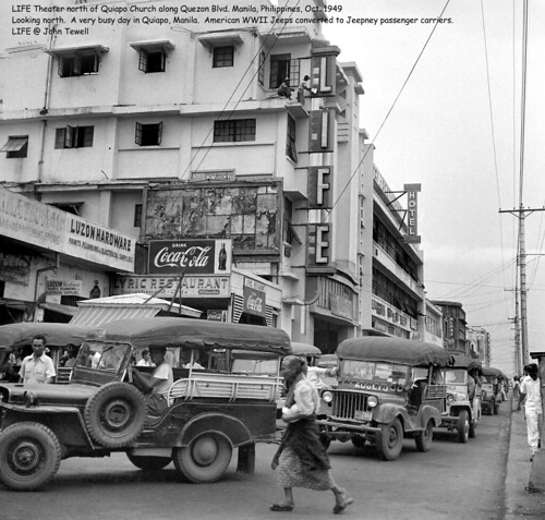 LIFE Theater north of Quiapo Church along Quezon Blvd. Manila, Philippines, Oct. 1949